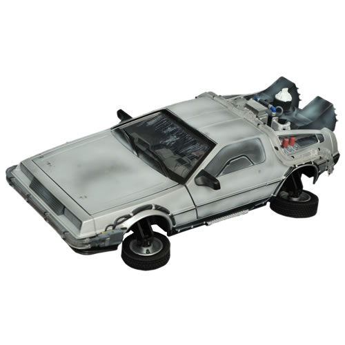 Back To The Future Vehicles - 1:15 Scale BTTF II Frozen Hover DeLorean Time Machine Electronic Vehicle